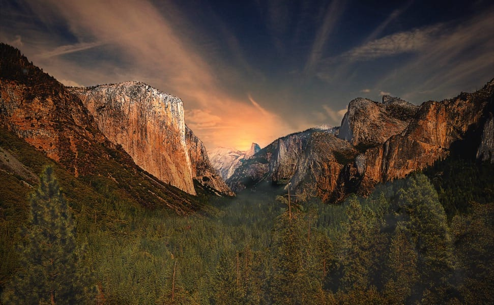 Yosemite Valley, as seen from the scenic
