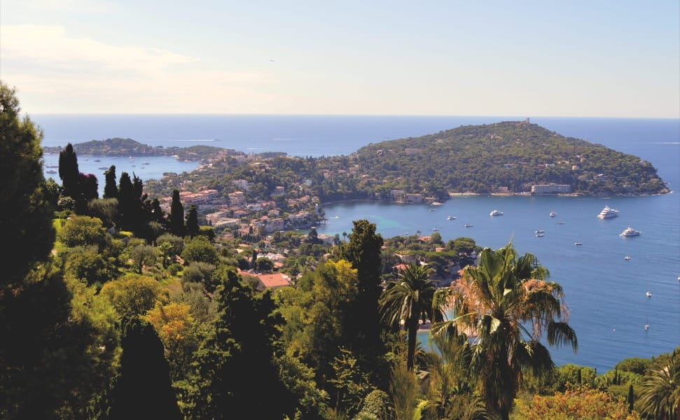 Cap Ferrat peninsula, as seen from Mont Boron
