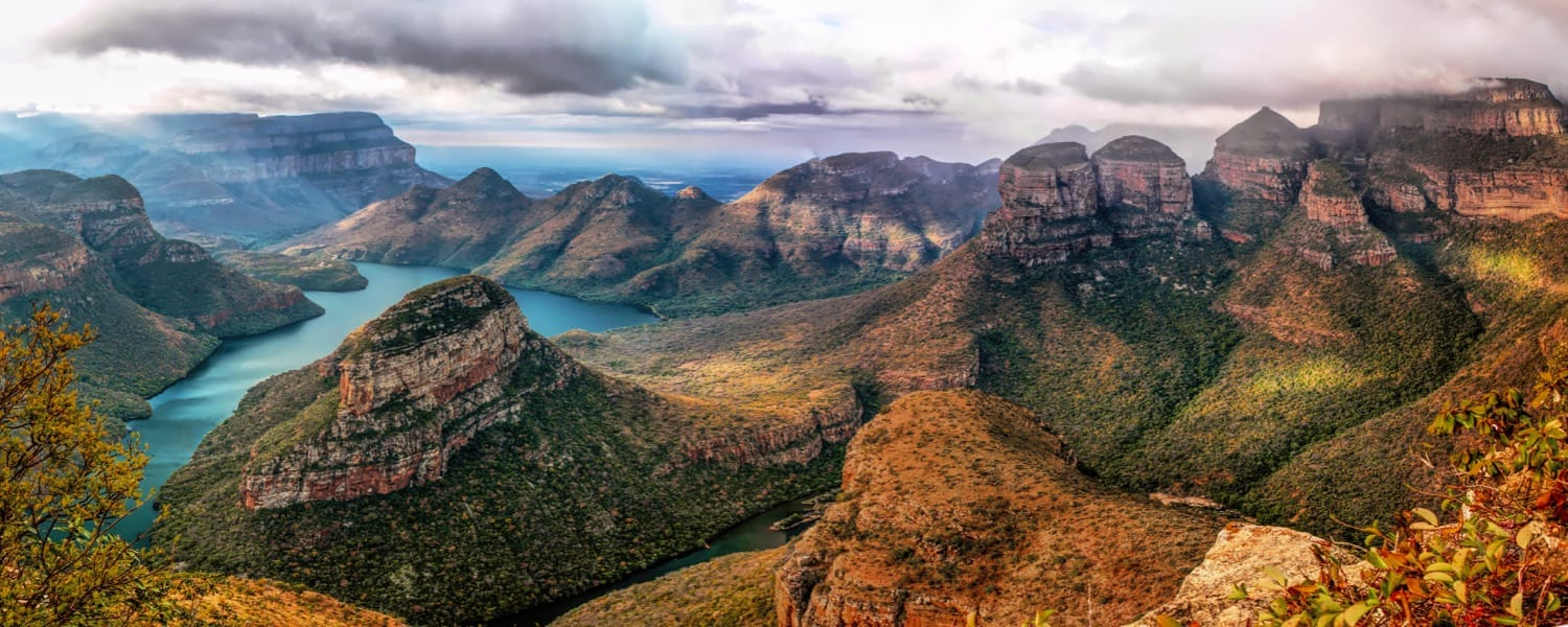 Blyde River Canyon, with the Three Rondavels