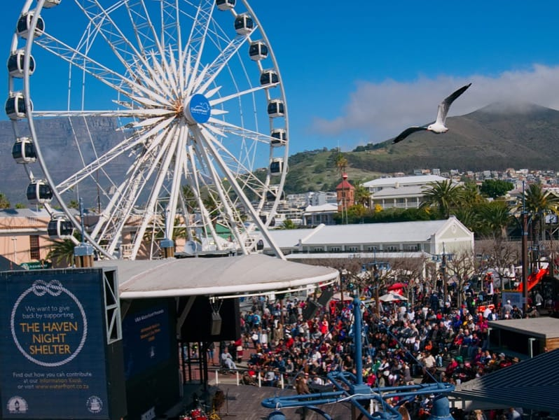 Live performance at a V & A Waterfront stage