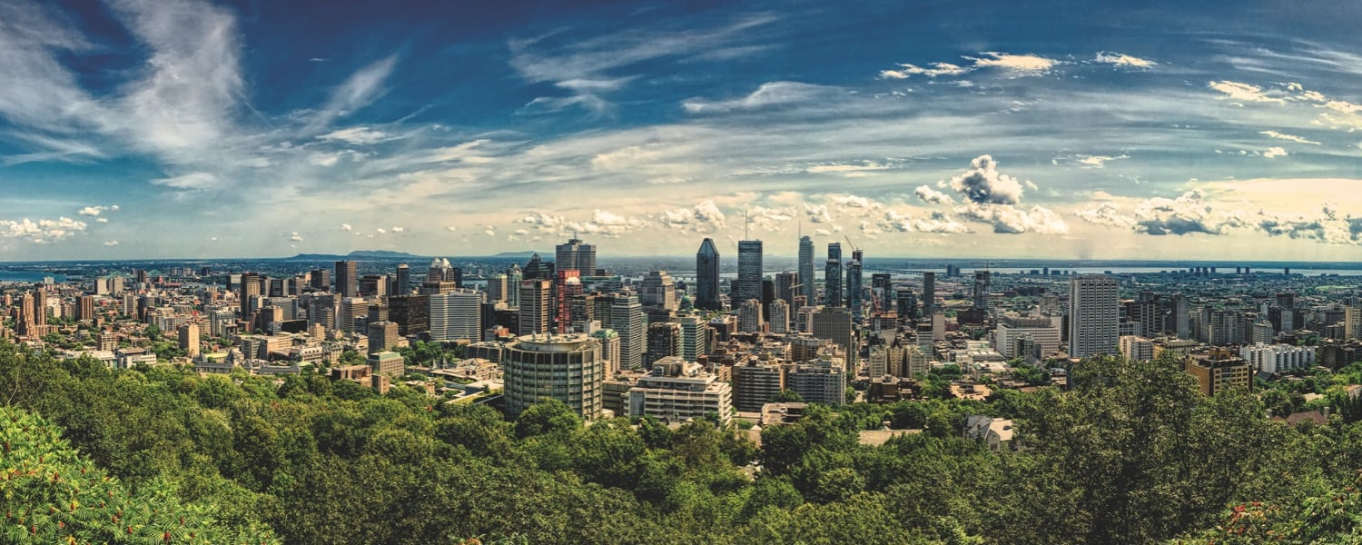 Montreal skyline, as seen from the Mont Royal Belvedere